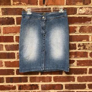 Ralph Lauren Jeans Denim Skirt Size 4 Vintage 90s